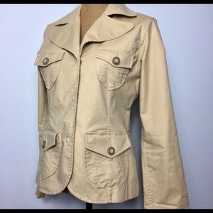 Tommy Bahama Beige Snap-on Buttons Jacket Sz. 6